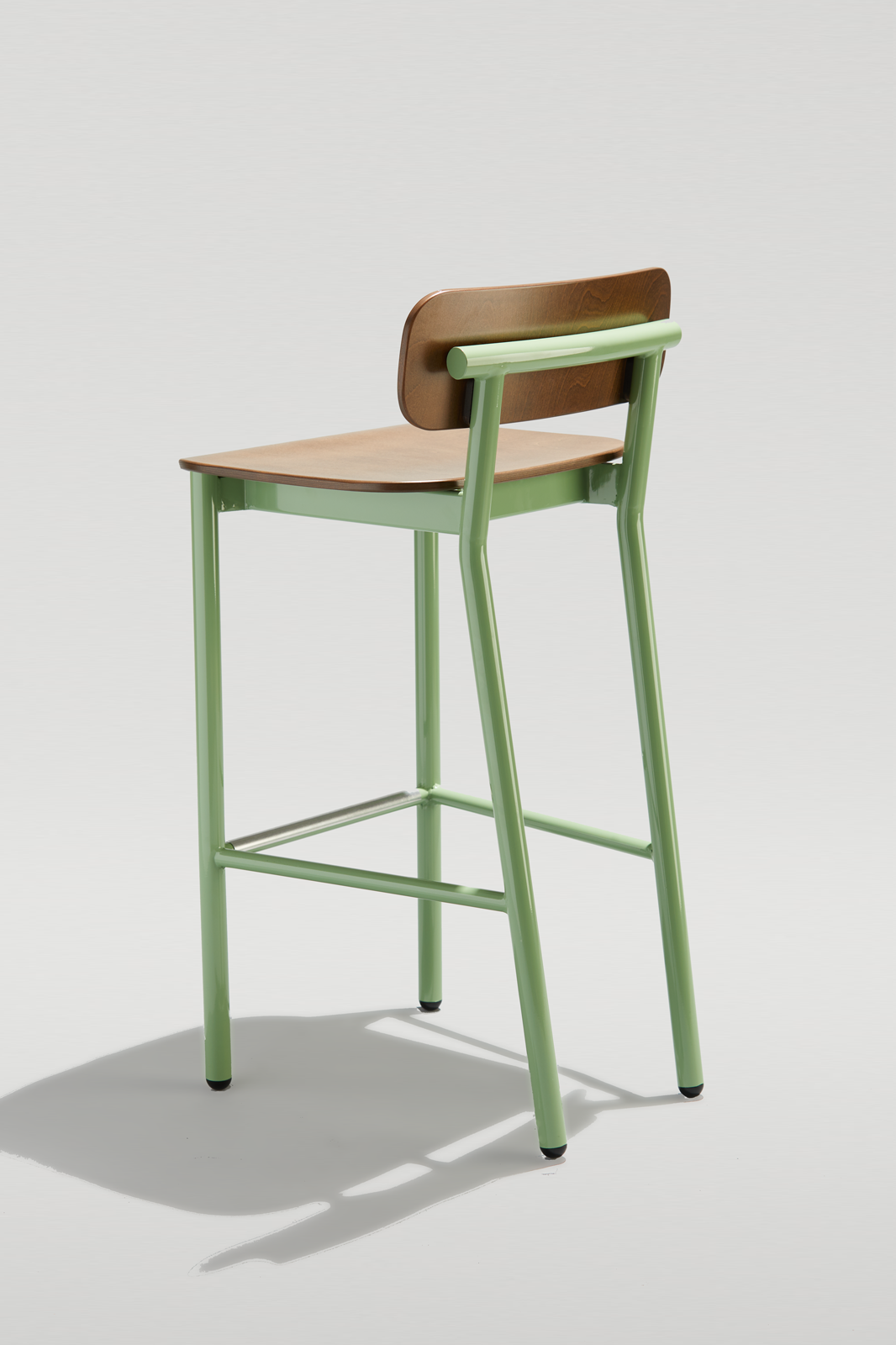 Ferdinand Barstool in light green and acron