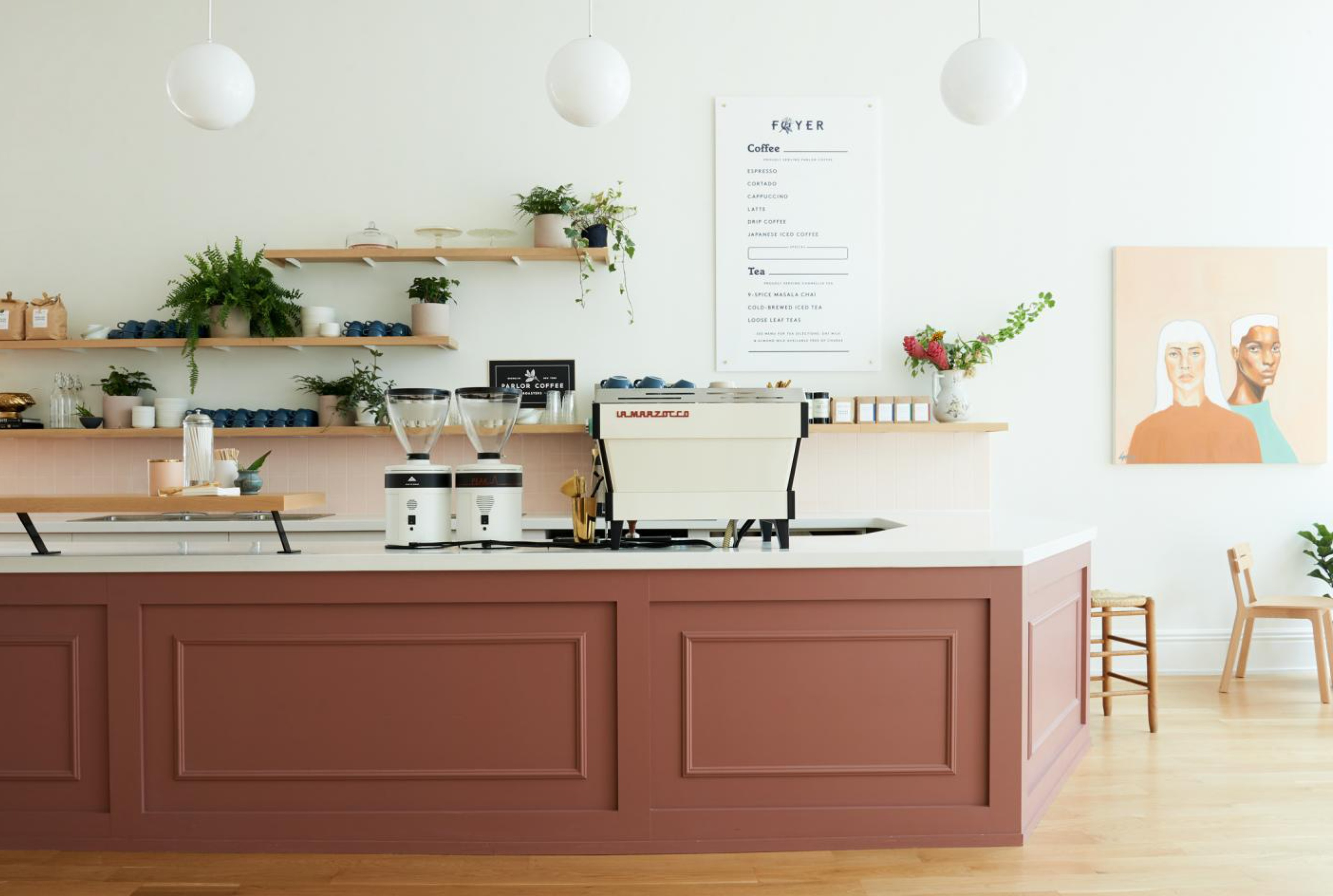Beauty Shoppe interiors coworking space inspiration