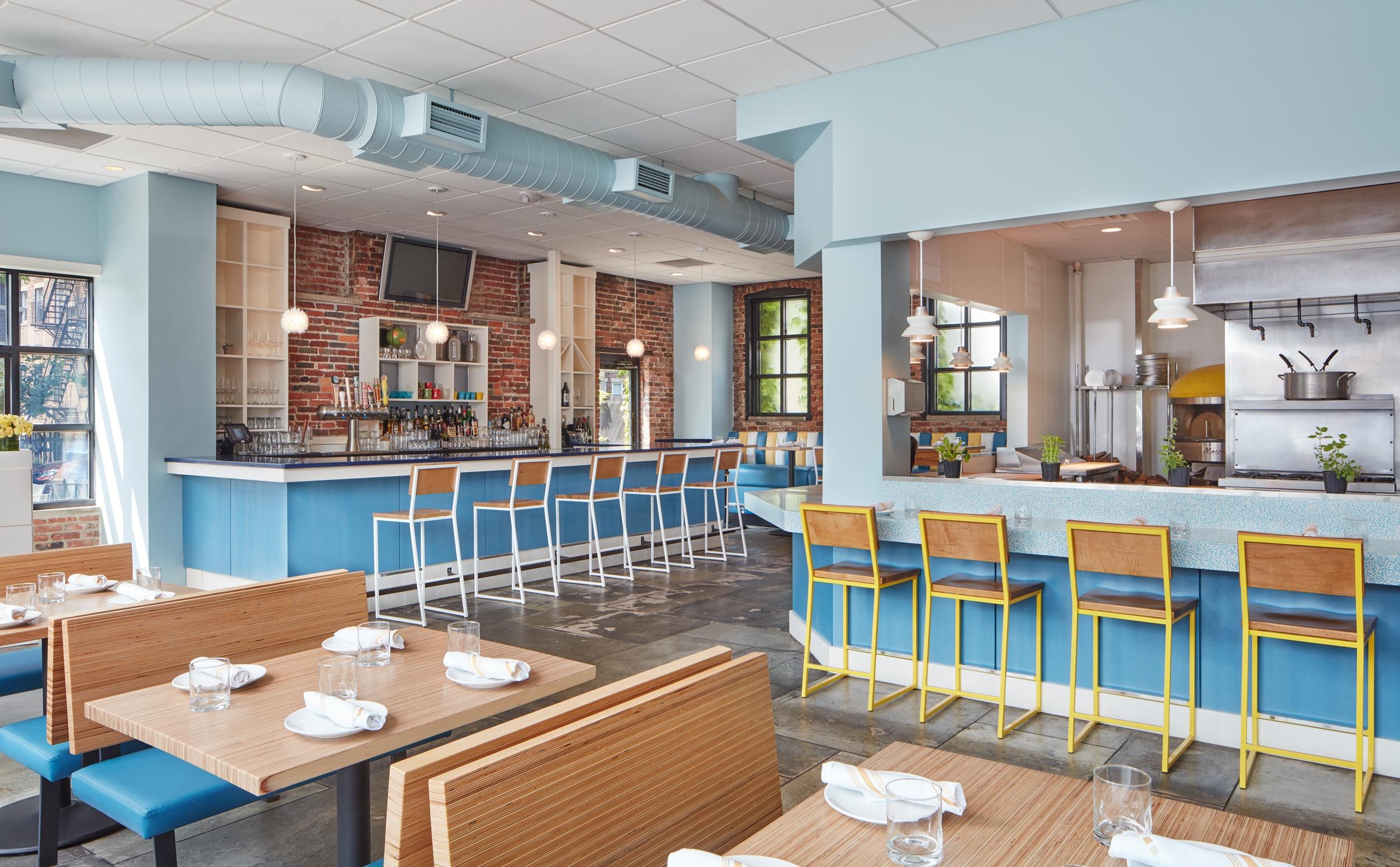 Tapestry colorful restaurant design