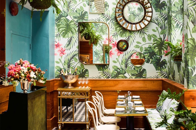 Leo's Oyster Bar featuring Bentwood Chairs