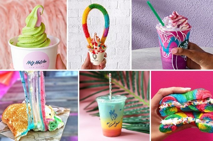 design trends of 2018 Rainbow Food