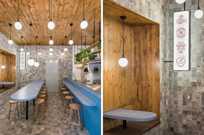 SmallFry restaurant designed Sans-Arch Studio