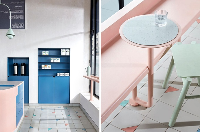 Vacation Cafe designed ThereforeStudio modern restaurant design