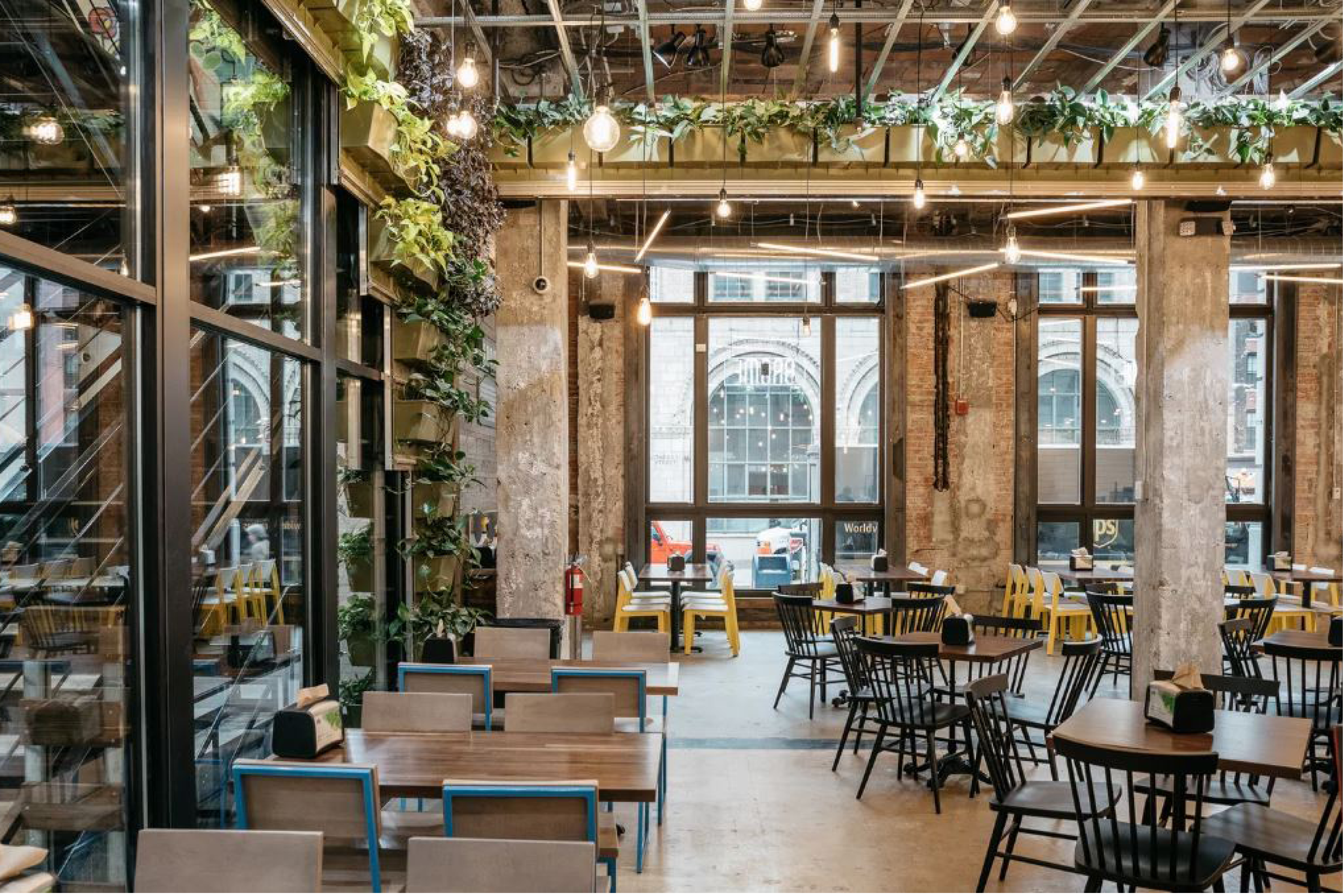 Brome Modern Eatery featuring Brady Sadie and Hugh Chairs