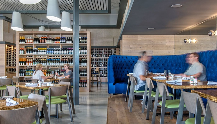 Modern restaurant design at The Grove