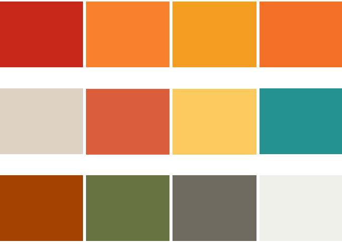 Modern Orange Color Schemes