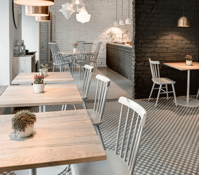 Modern Windsor Chair in Restaurant