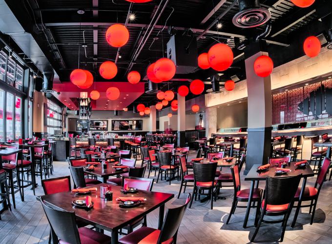 restaurant furniture at RA Sushi