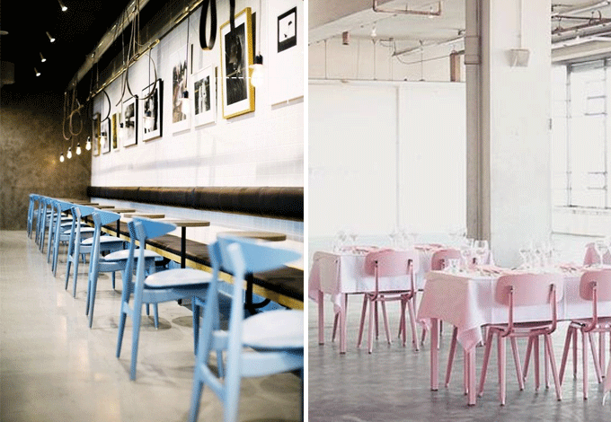Pantone Colors of the Year Restaurant Furniture