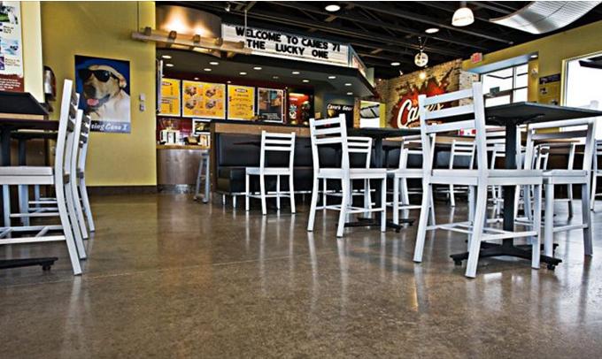 Raising Cane's restaurant furniture