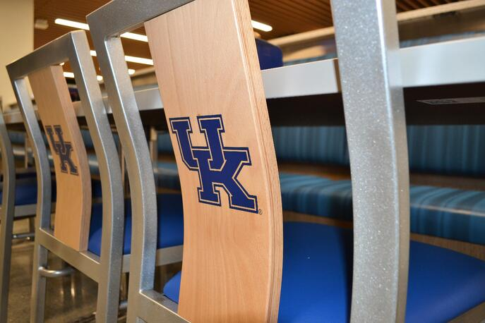 Custom university dining furniture at University of Kentucky