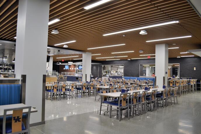 Cafeteria redesign and cafeteria furniture at University of Kentucky
