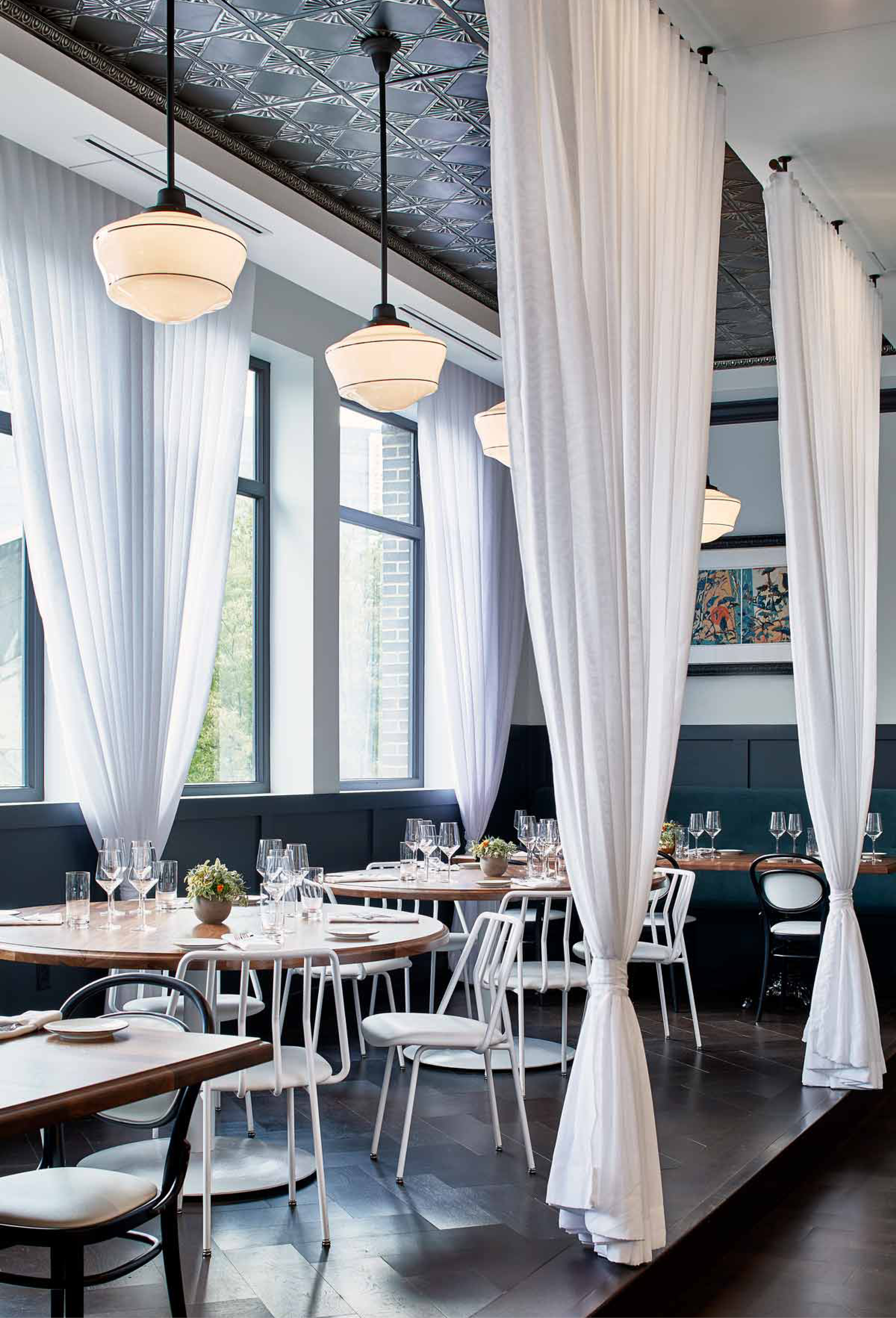 Leo Chair in Whitebird restaurant design