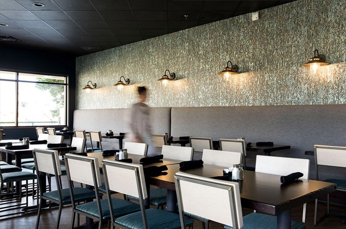 Modern restaurant design and furniture at by Grand Rapids Chair