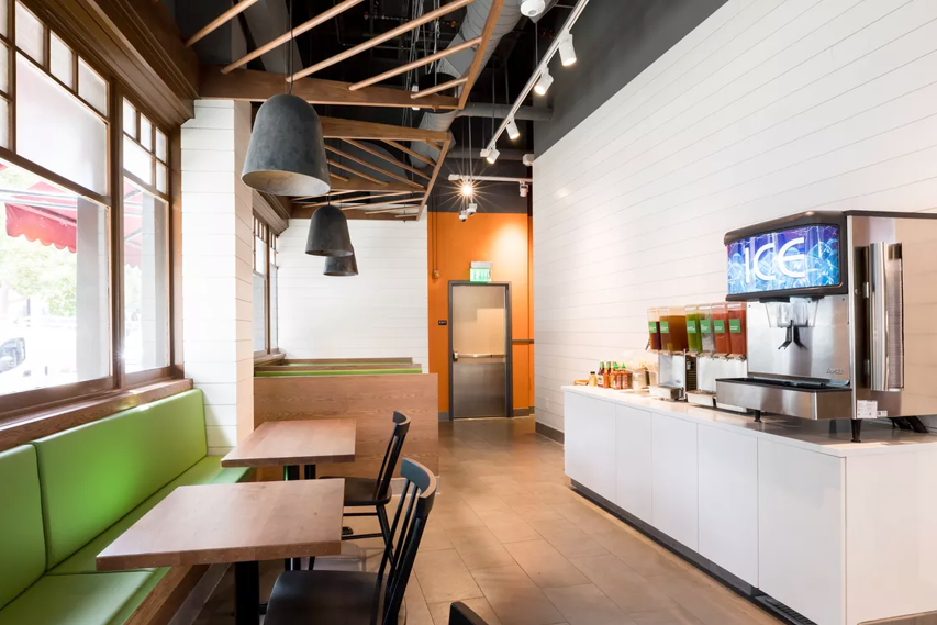 Veggie Grill Berkely location restaurant design