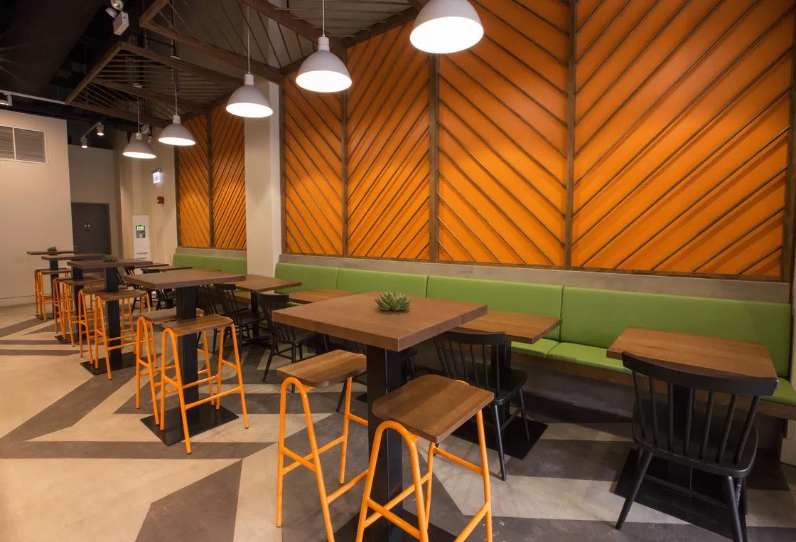 Veggie Grill Chicago Hurdle Barstools