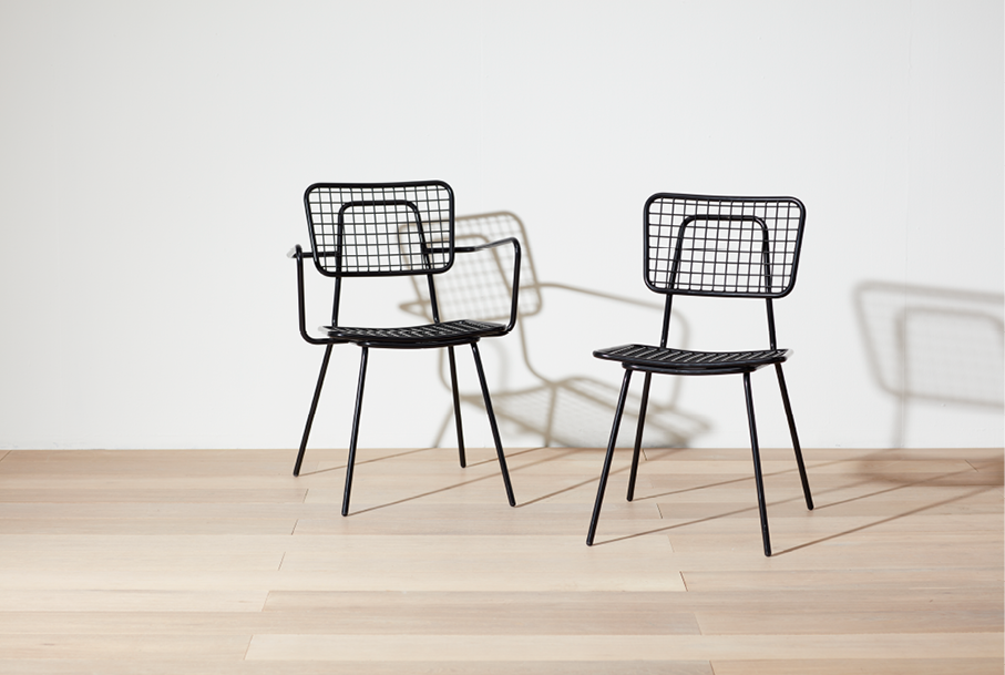 Wired Mesh Outdoor Chair by Grand Rapids Chair Opla