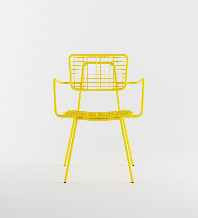 Yellow outdoor Armchair called Opla
