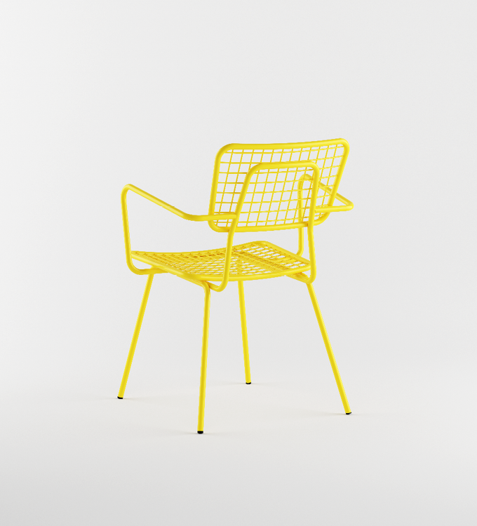 Opla Outdoor Armchair in Yellow