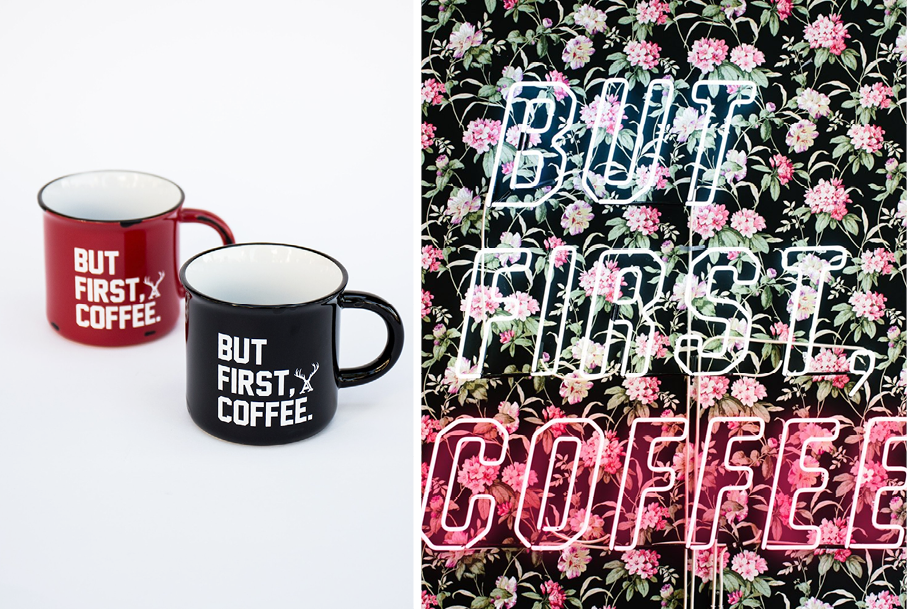 alfred but first coffee mug merchandise