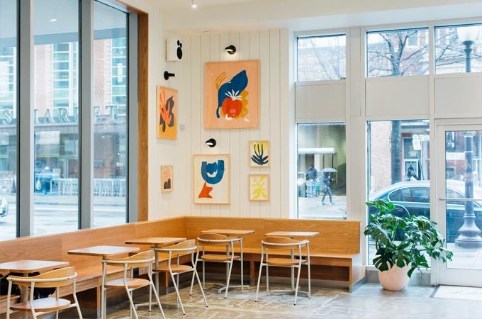 modern restaurant design at sweetgreen