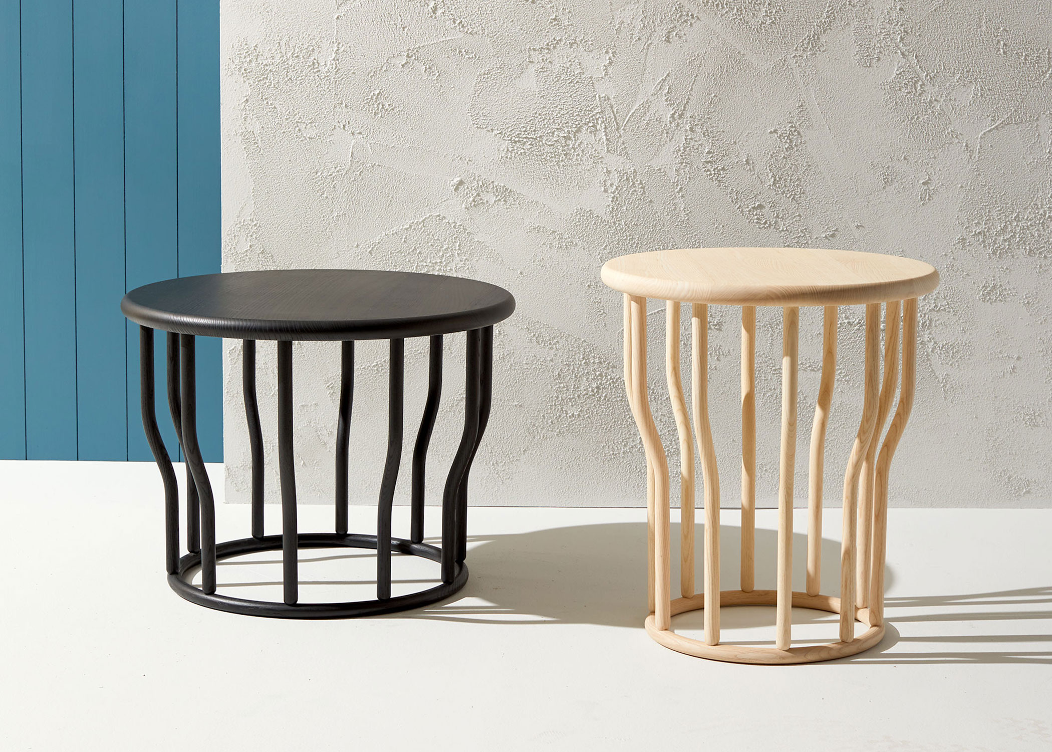 Modern commercial grade coffee and side table