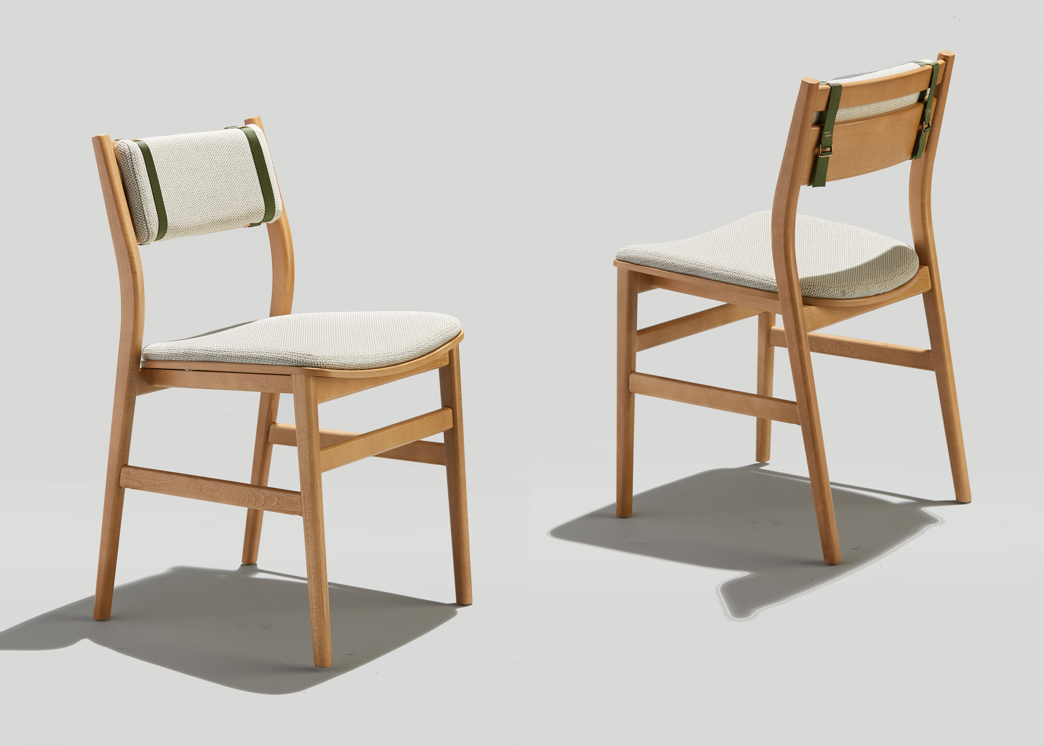 Mid-century inspired modern wood dining chair
