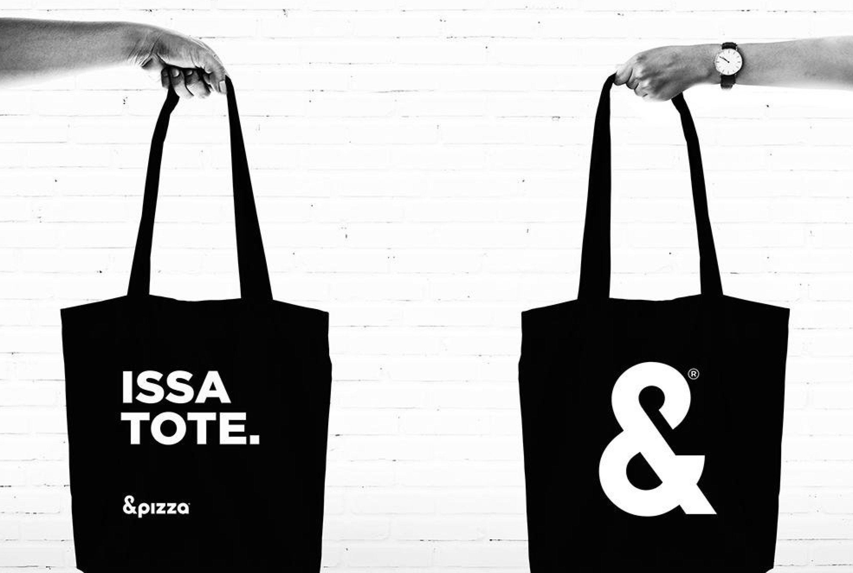 issa tote &pizza branding